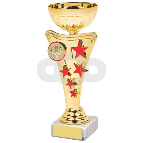 Gold & Red Star Trophy Cup