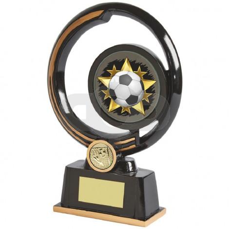 Black and Gold Circular Football Award