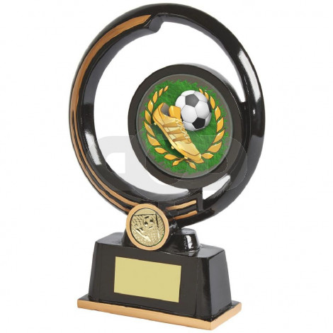 Black and Gold Circular Football Boot Award