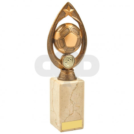 Antique Gold Marble Football Tear Trophy