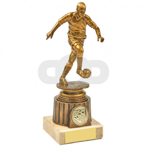 Antique Gold Kicking Male Footballer Award