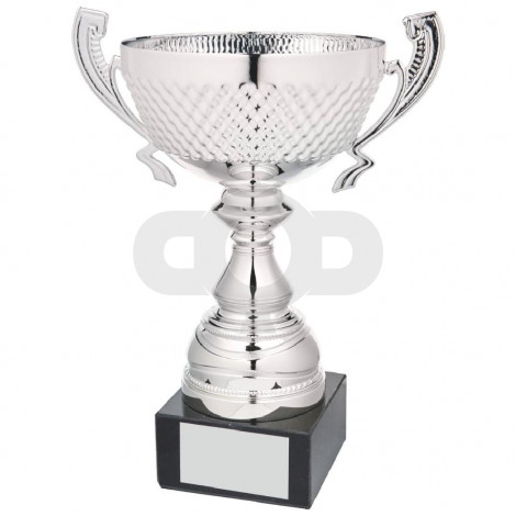 Silver Patterned Bowl Award with Handles