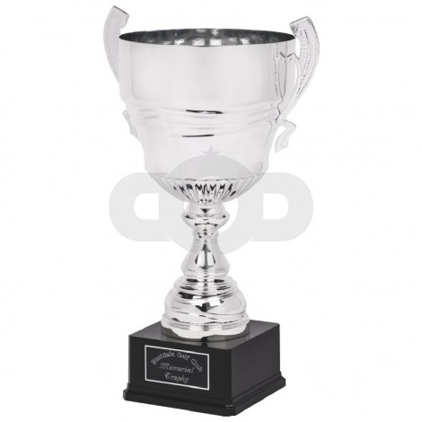 Large Silver Presentation Cup on Black Base