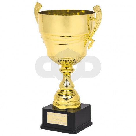 Large Gold Presentation Cup on Black Base
