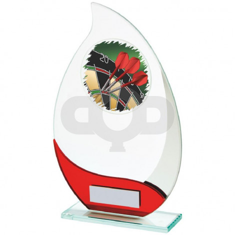 Jade & Red Glass Darts Award