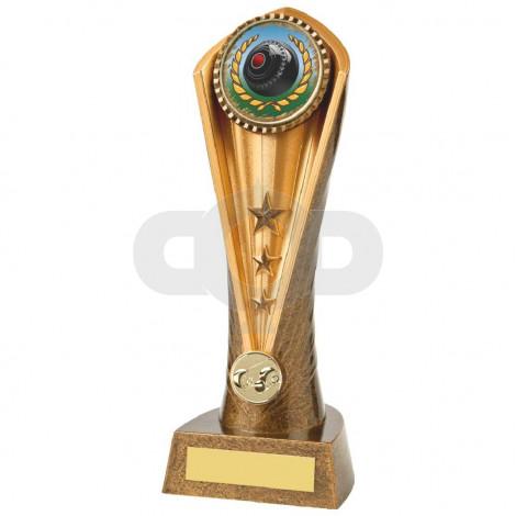 Antique Gold Lawn Bowls Cobra Trophy