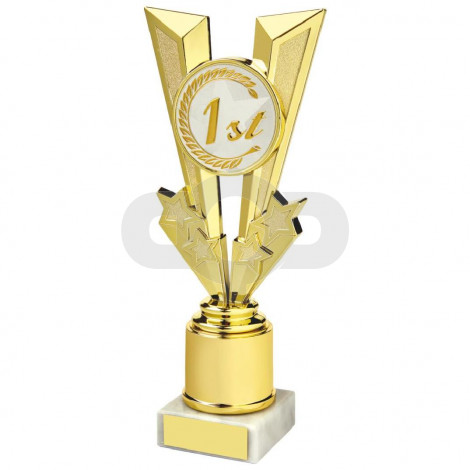 Shiny Gold V Placing Holder Award