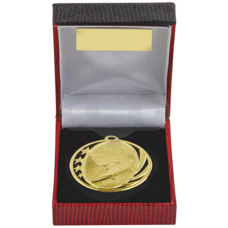 50mm Boot & Ball Football Medal in Case