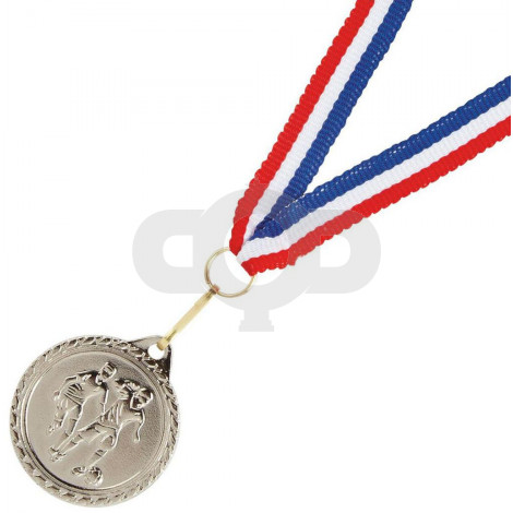 32mm Men's Football Medal with Ribbon