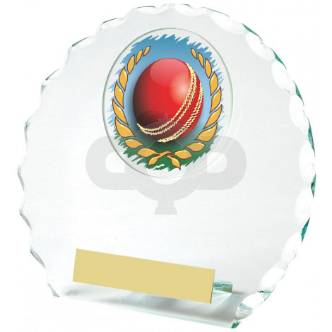 Round Jade Glass Award for Cricket