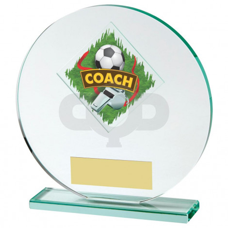 Jade Glass Football Coach Award