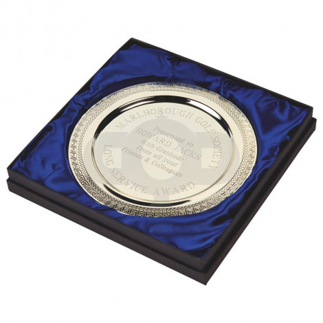 Silver Plated Salver in Case