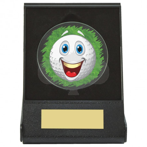 Black Case Golf Collectable - Happy