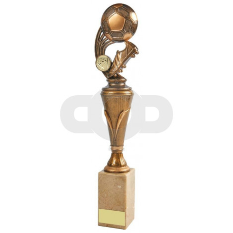 Gold Boot & Ball Column Trophy