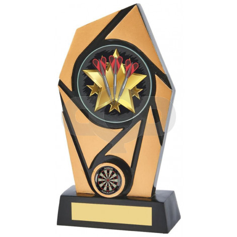 Black & Gold Resin Holder Darts Award