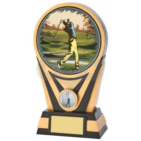 Resin Gold & Black Golf Award