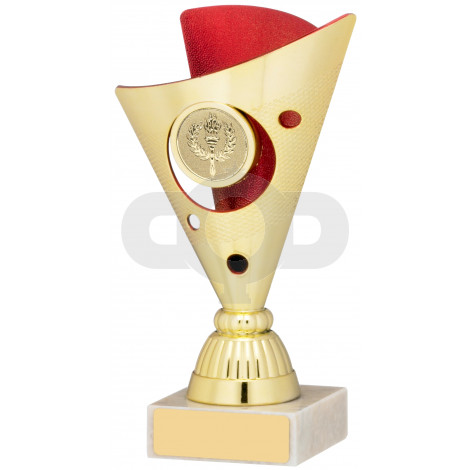 Gold And Red Trophy