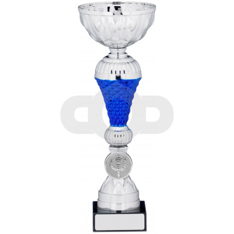 Silver Blue Cup Trophy