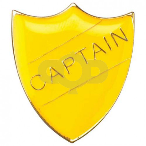 School Shield Badge Captain Yellow