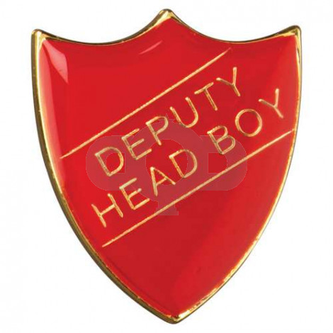 School Shield Badge Deputy Head Boy Red