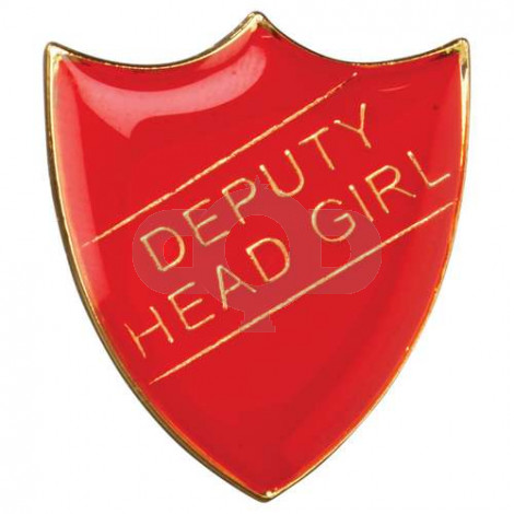 School Shield Badge Deputy Head Girl Red