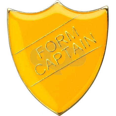 School Shield Badge (Form Captain) - Yellow