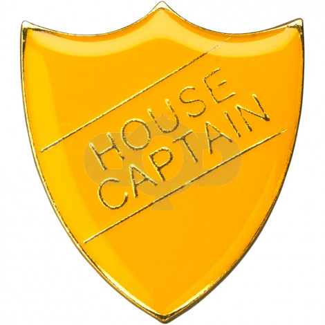 School Shield Badge (House Captain) - Yellow