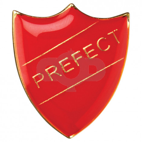 School Shield Badge Prefect Red