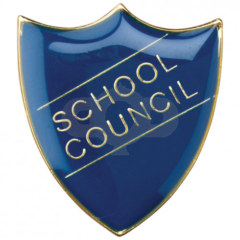 School Shield Badge School Council Blue