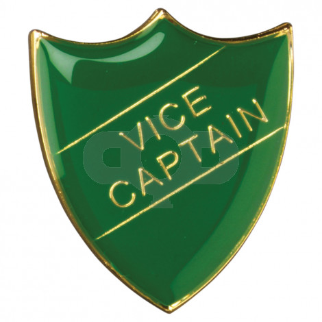 School Shield Badge Vice Captain Green