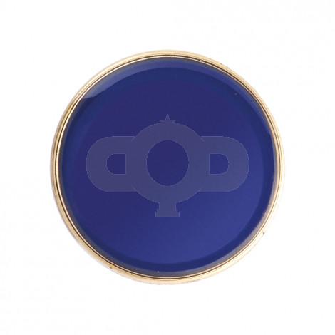 Round Enamel Blue Badge