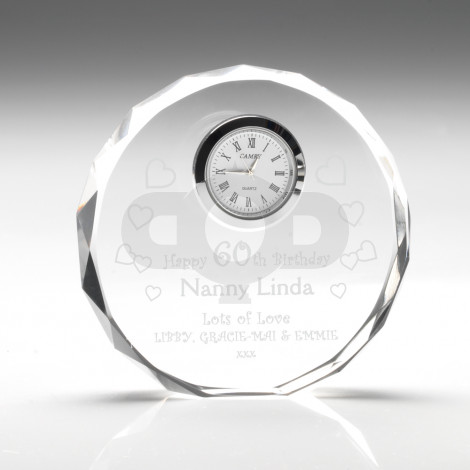 Clear Glass Round Clock
