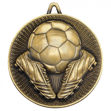 Football Deluxe Medal - Antique Gold