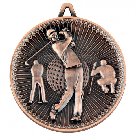 Golf Deluxe Medal - Bronze