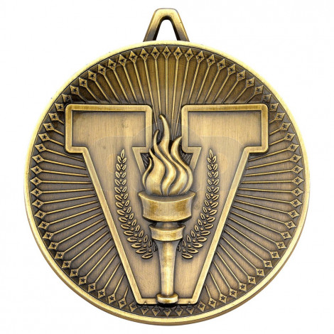 Victory Torch Deluxe Medal - Antique Gold
