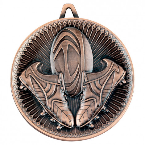 Rugby Deluxe Medal - Bronze