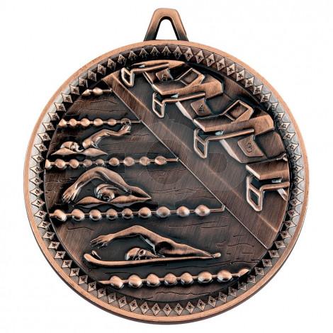 Swimming Deluxe Medal - Bronze