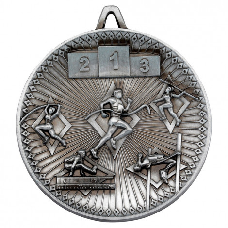 Athletics Deluxe Medal - Antique Silver