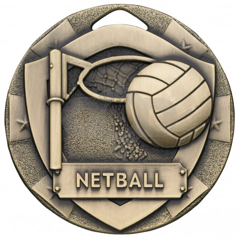 Netball Mini Shield Medal