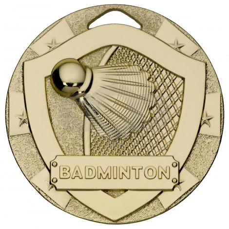 Badminton Mini Shield Medal