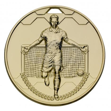 Gold Football Scorer Male Medal