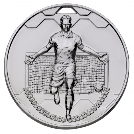 Silver Football Scorer Male Medal