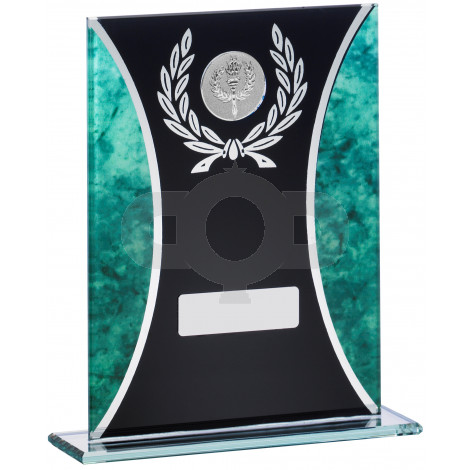 Green Marble Black Glass Award