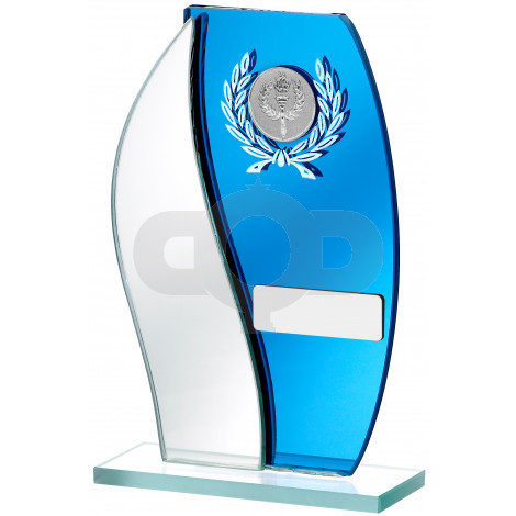 Mirrored Blue Glass Award