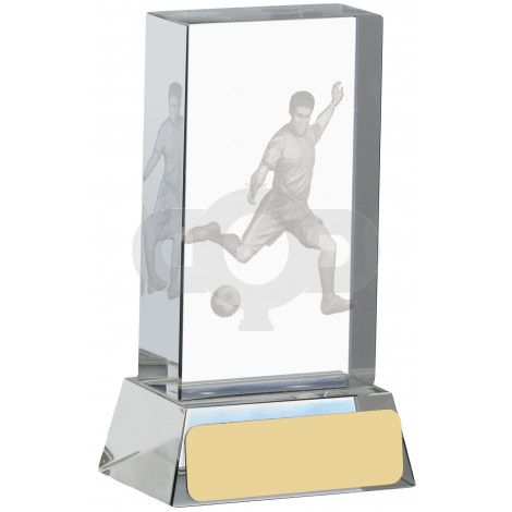 Football Glass Block With Player