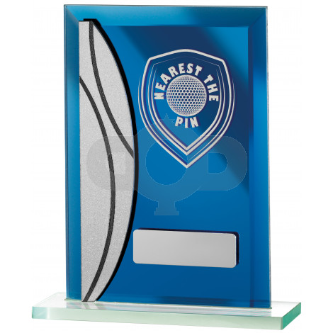 Golf Nearest The Pin Blue Mirrored Award