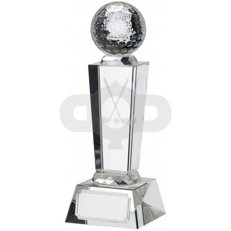 Golf Glass Award With Ball