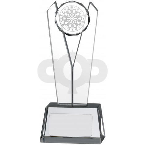 V Shaped Glass Darts Award