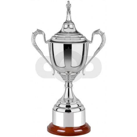 Lidded Nickel Plated Golf Cup