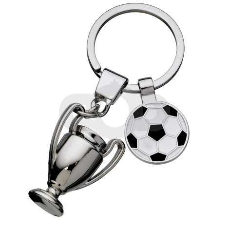 Football And Trophy Keyring